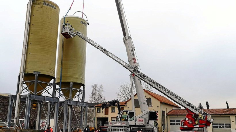 Helmstedter Betriebshof erhält zwei neue Streugutsilos