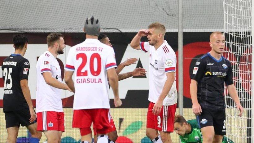 Sieg in Paderborn: HSV dank Terodde an Zweitliga-Spitze