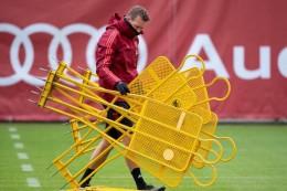 """Bayern im Abschlusstraining mit """"Vollblutprofi"""" Hernández"""