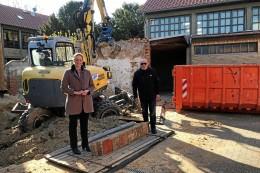 Beginn des Baus des Kindergartens in der Schule in Broistedt