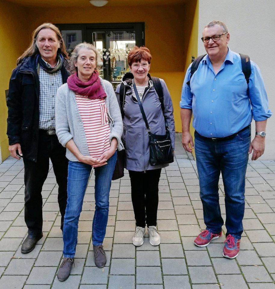 Koordinator Ulrich Kreutzberg (von links) und die Ehrenamtlichen Eva-Maria Arnold, Gabriela Walther, Peter Wagner.
