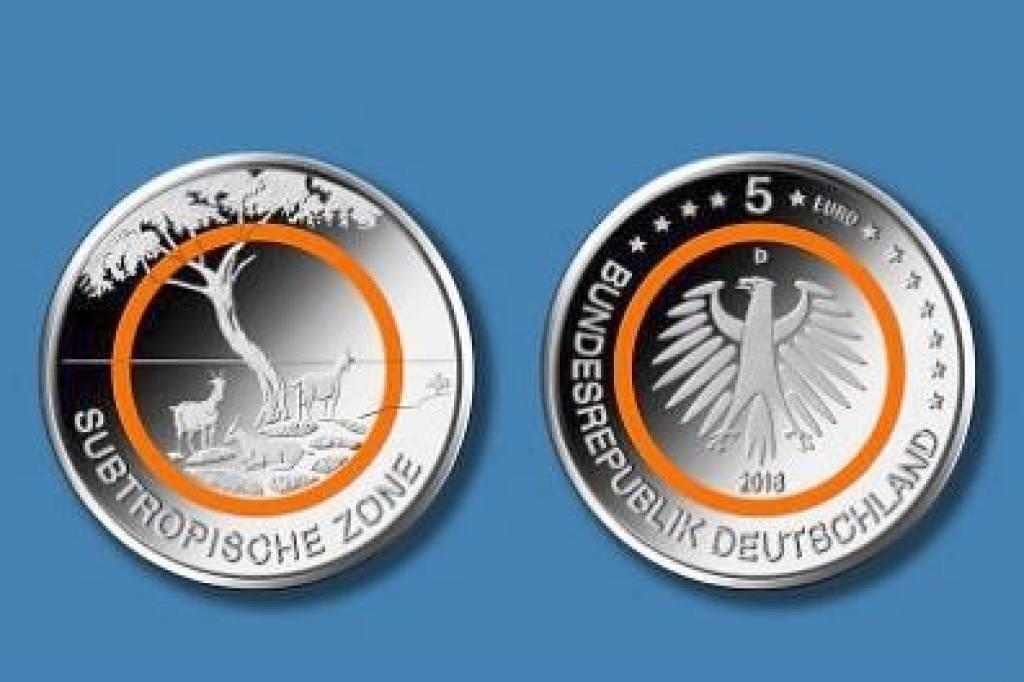 Bundesbank Neue 5 Euro Münze Subtropische Zone Herausgegeben
